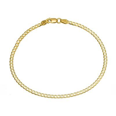 Klasyczna złota bransoletka z diamentowanym wykończeniem Prezent Grawer GRATIS