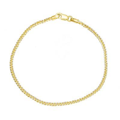 Gęsta złota bransoletka diamentowana białym złotem Prezent Grawer GRATIS