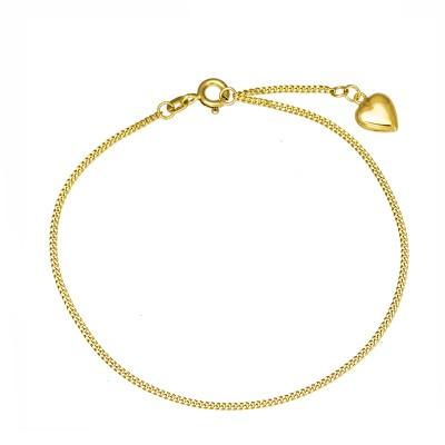 Klasyczna złota bransoletka z serduszkiem Prezent Grawer GRATIS