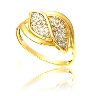 Olśniewający pierścionek z żółtego złota