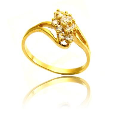Złoty wytworny pierścionek Prezent Grawer GRATIS