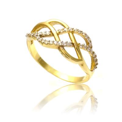 Gustowny złoty pierścionek