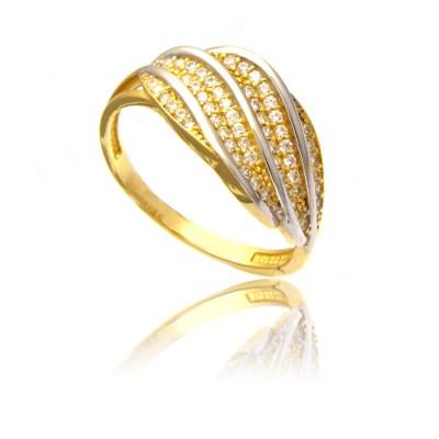 Czarujący złoty pierścionek
