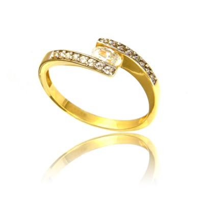 Złoty gustowny pierścionek