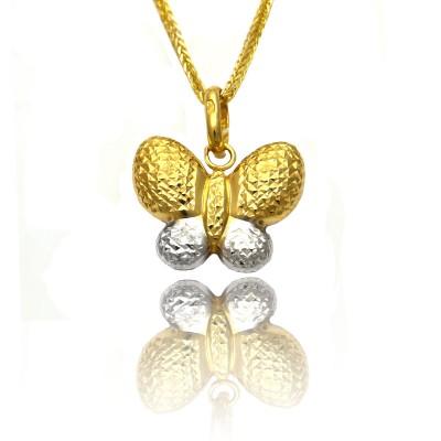 Złota zawieszka dwukolorowy motyl