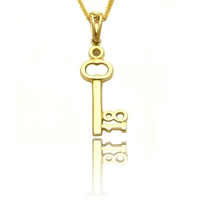 Złota zawieszka klucz
