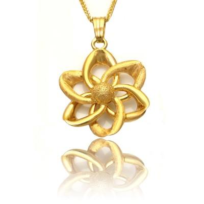 Złota zawieszka w kształcie kwiatka