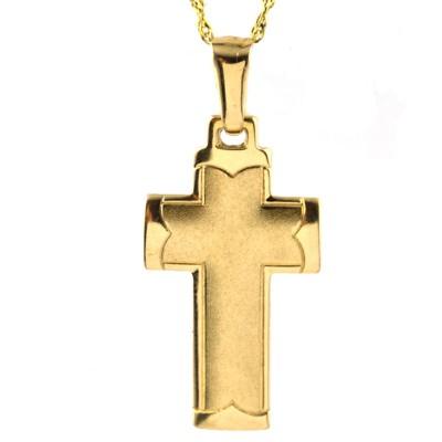 Klasyczny złoty komplet z krzyżykiem