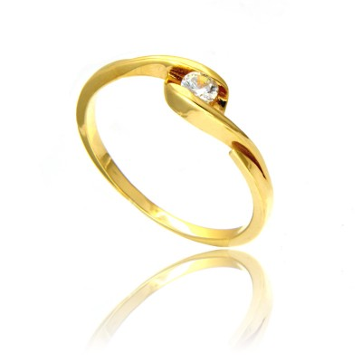 Delikatny i elegancki złoty pierścionek