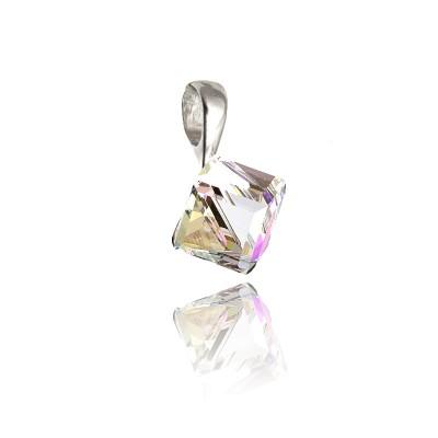 Zawieszka z  kryształem Swarovski® mieniące odcienie różu