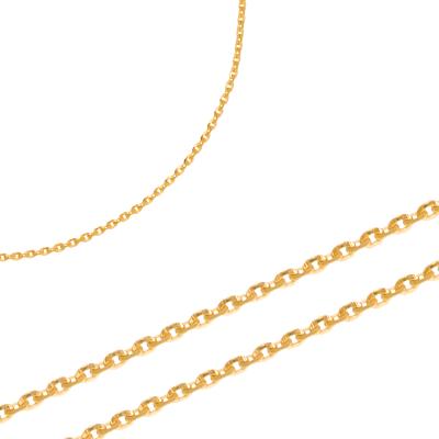 Elegancki złoty łańcuszek o połyskującym splocie Prezent Grawer GRATIS