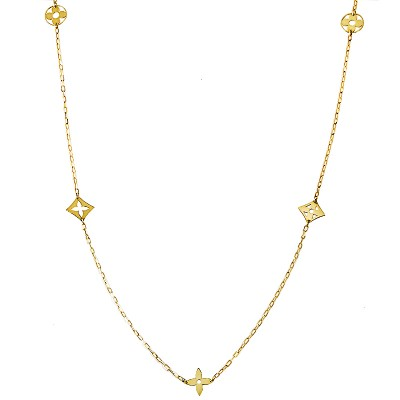 Niepowtarzalny złoty naszyjnik z oryginalnymi zawieszkami Prezent Grawer GRATIS