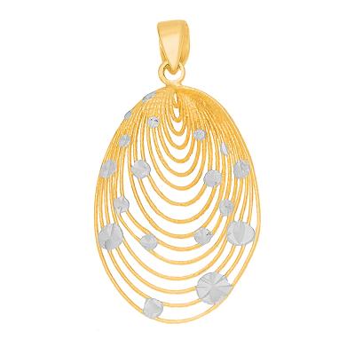 Niesamowicie elegancka złota zawieszka zdobiona białym złotem Prezent Grawer GRATIS