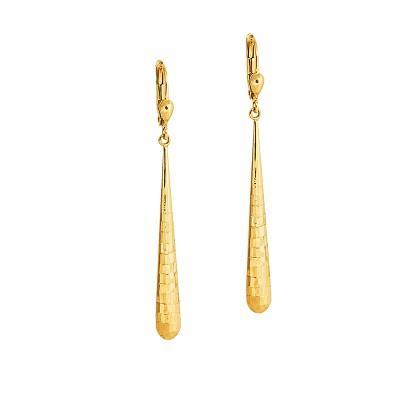 Efektowne diamentowane złote kolczyki Grawer GRATIS