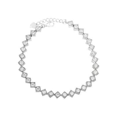 Elegancka srebrna bransoletka z cyrkoniami