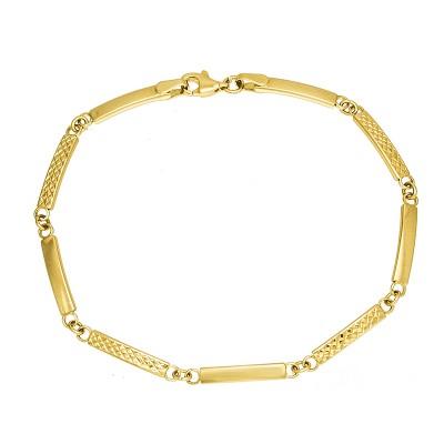Efektowna złota bransoletka Prezent Grawer GRATIS