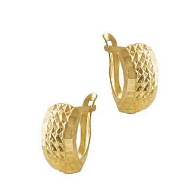 Wyraziste diamentowane złote kolczyki Prezent Grawer GRATIS
