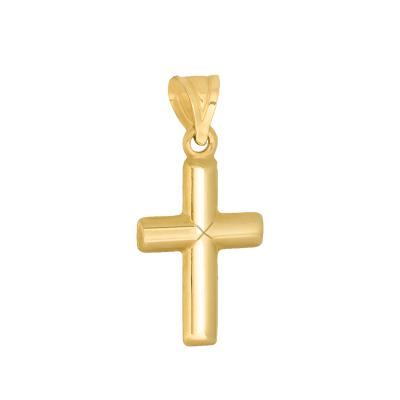 Złota zawieszka klasyczny krzyżyk