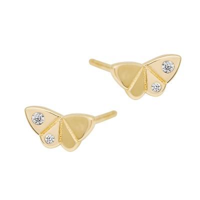 Złote kolczyki Motylki Prezent Grawer GRATIS