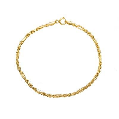 Złota bransoletka o pięknym, skręcanym splocie