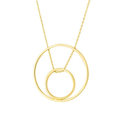 Elegancki złoty naszyjnik z podwójnym kółeczkiem