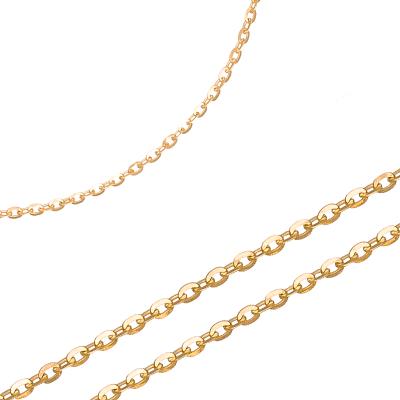 Uniwersalny złoty łańcuszek o błyszczącej powierzchni Prezent Grawer GRATIS