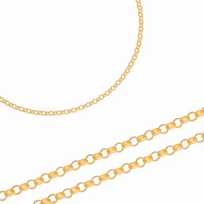 Złoty łańcuszek o eleganckim splocie Prezent Grawer GRATIS