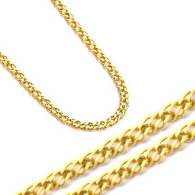 Złoty łańcuszek o splocie Rombo