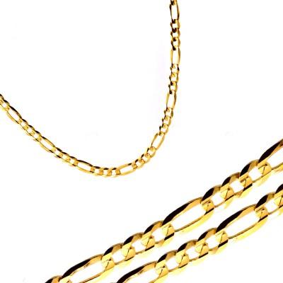 Złoty łańcuszek o splocie typu figaro