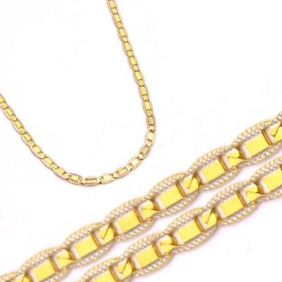 Złoty żółty szykowny łańcuszek