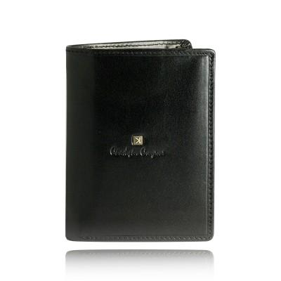Portfel męski skórzany Christopher Creazioni czarny z wbudowanym zabezpieczeniem na karty kredytowe