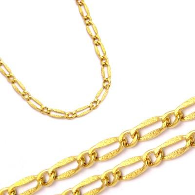 Złoty żółty łańcuszek diamentowany