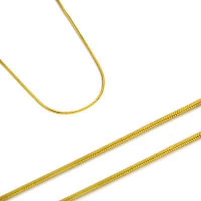 Złoty łańcuszek rodzaj splotu Żmijka