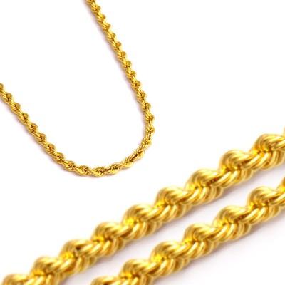 Złoty łańcuszek o splocie typu kordel