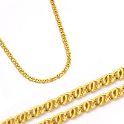 Złoty żółty wytworny łańcuszek
