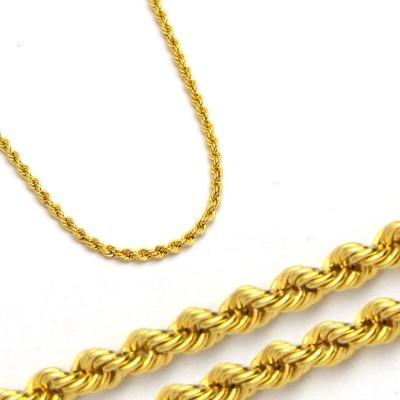 Szykowny złoty żółty łańcuszek