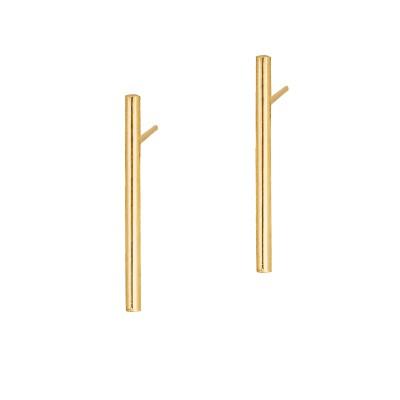 Złote kolczyki w prostym kształcie Grawer GRATIS