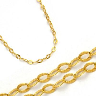Diamentowany złoty łańcuszek