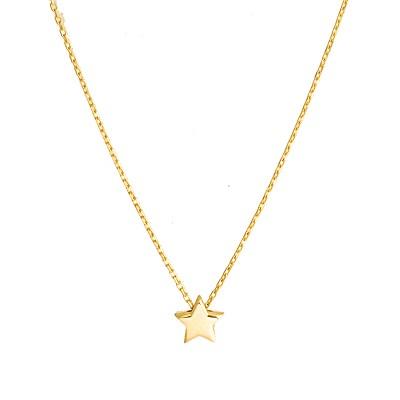 Złoty naszyjnik celebrytka z Gwiazdką Grawer GRATIS