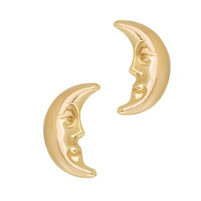 Złote kolczyki Księżyce Grawer GRATIS