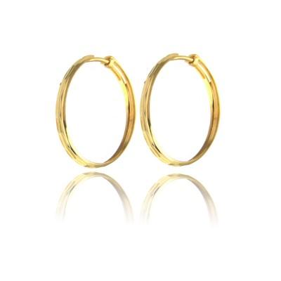 Złote stylowe kolczyki koła