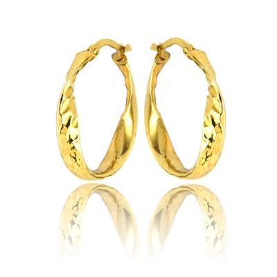 Kolczyki złote wytworne owale