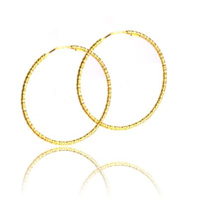 Kolczyki złote diamentowane koła