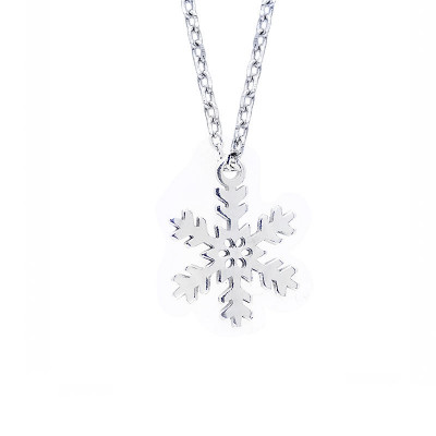 Srebrny naszyjnik płatek śniegu