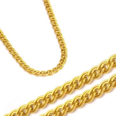 Złoty łańcuszek ze złota w kolorze żółtym