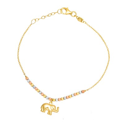 Złota bransoletka ze Słonikiem na szczęście Grawer GRATIS