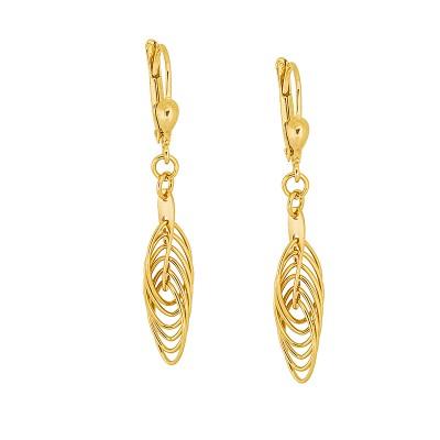 Eleganckie złote kolczyki Grawer GRATIS