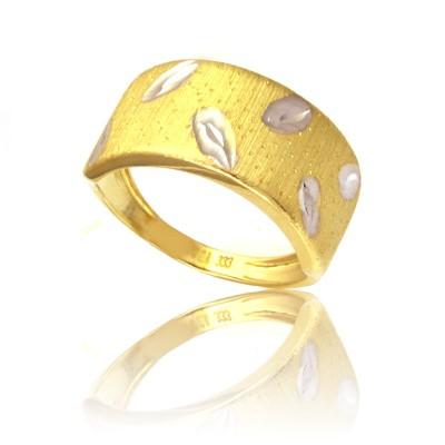 Złoty awangardowy pierścionek