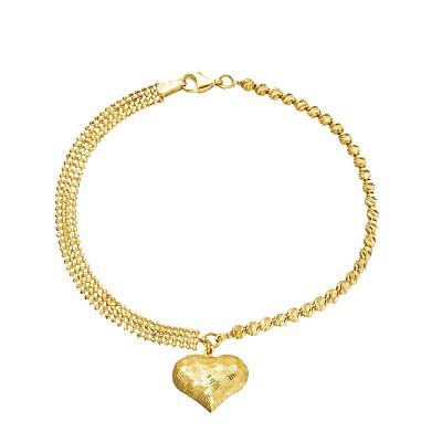 Złota bransoletka z Serduszkiem Grawer GRATIS