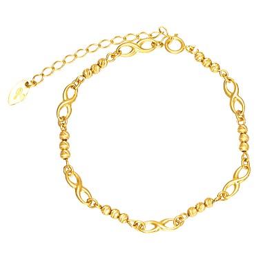 Złota bransoletka ze Znakami Nieskończoności Grawer GRATIS